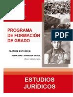 Pensum de formación de grado en Estudios Jurídico de la UBV