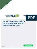 METODOLOGIA DO ÍNDICE DE  SUSTENTABILIDADE EMPRESARIAL (ISE)