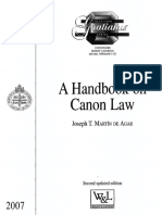 Handbook on Canon Law