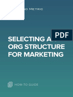 Selecting an Org Structure for Marketing