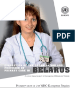 Evaluation of the Organization and Provision of Primary Care in Belarus
