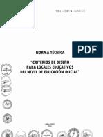 Norma Técnica Criterios de Diseño Para Locales Educativos Del Nivel de Educación Inicial