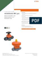 Valvula de Membrana Stubbe Mv310