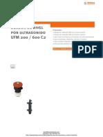 Indicador Nivel Ultrasonidos Stubbe Umf200 c2