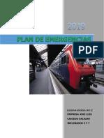 plan de emergencia empresa minera