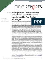 Biosorption and Biodegradation of the Environmenta