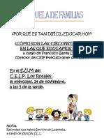 1º Cartel Escuela de Familias imágenes[1]