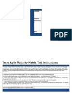 Agile Maturity Matrix for Teams