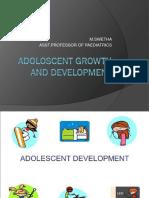 Adoloscent Growth and Development
