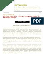 Textos de Magia Traducidos_ Servidores Mágicos 03 - Hacer Que La Magia Sea Segura - El Potencial de La Magia