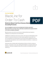 Blackline for Order to Cash