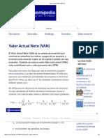 Valor Actual Neto (VAN) %