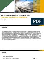 Abap Platform in Sap s4hana 1809