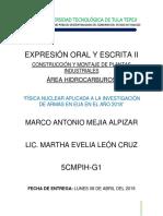 Peporte de Expresion Oral y Escrita Marco