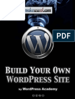 Building Your Own Wordpress Site