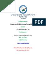TAREA 0404 BBBB Recursos Didácticos y Tecnológicos
