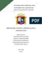 ARQUITECTURA COLONIAL Y REPUBLICANA DE LA CIUDAD DE CUSCO.docx