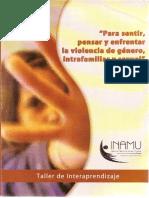 Para sentir, pensar y enfrentar la violencia de genero intrafamiliar y sexual