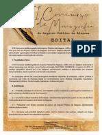 Edital Concurso Monografia