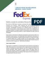 Actividad Caso de Creatividad Fedex