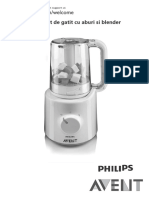 Manual Aparat de Gatit Cu Abur Philips