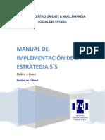 Manual de Implementación de La Estrategia 5 s