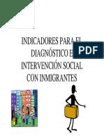 INDICADORES PARA EL DIAGNÓSTICO E INTERVENCIÓN SOCIAL CON INMIGRANTES