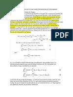 Integración Numérica de Ecuaciones Diferenciales Ordinarias