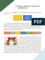 Factores Que Afectan El Diseño de Una Red de Distribución