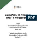 La química analítica en la investigación