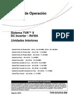 TVR II Unidades Interiores - Manual de Operación