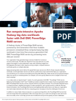 Run compute-intensive Apache Hadoop big data workloads faster with Dell EMC PowerEdge R640 servers