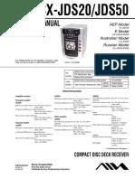 Aiwa Cx-jds20 Cx-jds50 Ver1.1 Sm