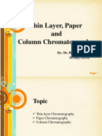 TLC,Paper and Column Chromatography