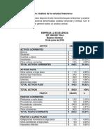 Taller - Análisis de Los Estados Financieros