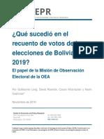 Bolivia Elecciones 2019