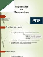 Propriedades vs Microestruturas