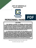 Greenville County personnel handbook