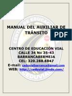 Manual Del Auxiliar de Tránsito 2016