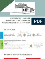 Rainwater Harvesting as an Alternative Water source