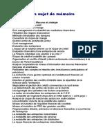 Proposition Sujet de Mémoire Finance