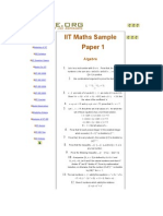 IIT Maths Sample Paper 1