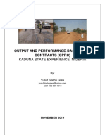 Output and Performance-based Roads Contract