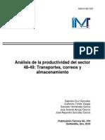 Análisis de La Productividad Del Sector 48 49