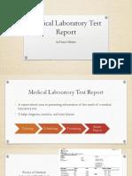 Medical Laboratory Test Report