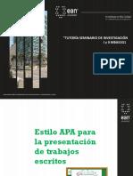 Presentación Normas APA EAN 2019