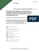 Antioxidant Anti Collagenase and Anti Elastase Activities of Phyllanthus Emblica Manilkara Zapota and Silymarin an in Vitro Comparative Study For