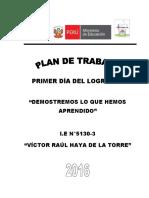 Plan de Trabajo-día Del Logro