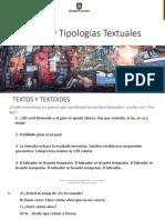 Textos y Tipologia