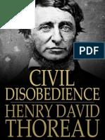 Henry David Thoreau - Desobediencia Civil